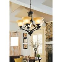 'Brockton' Burnt Sienna 5-Light Single Tier Chandelier