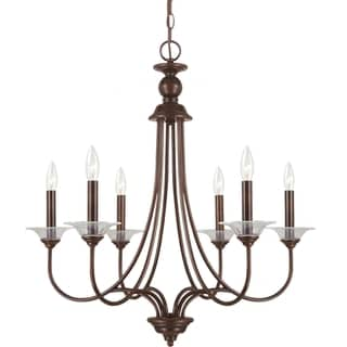 'Lemont' Burnt Sienna 6-Light Single Tier Chandelier