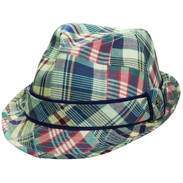 Tommy Bahama Men's Plaid Patch Madras Fedora