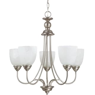 Sea Gull Lighting Lemont 5-light Antique Brushed Nickel Single-tier Chandelier