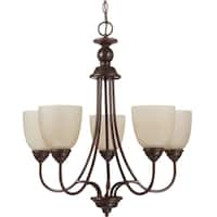 Sea Gull Lighting Lemont 5-light Burnt Sienna Single-tier Chandelier
