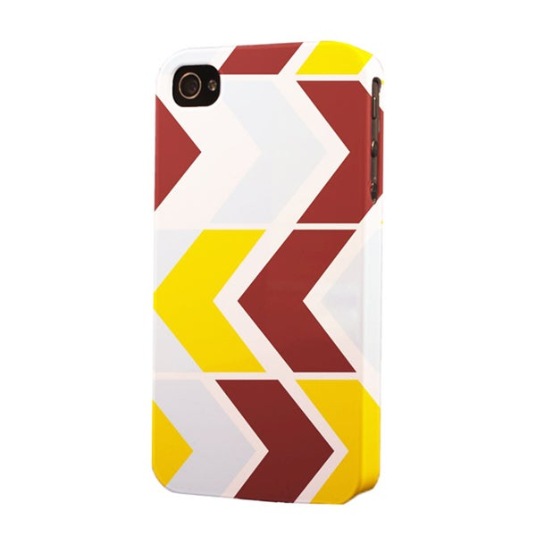 Plastic Redskin Color Pattern Dimensional Apple iPhone Case