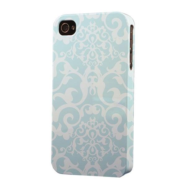 Plastic Light Blue Pattern Dimensional Apple iPhone Case
