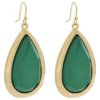 NEXTE Jewelry Goldtone Lucite Teardrop Earrings