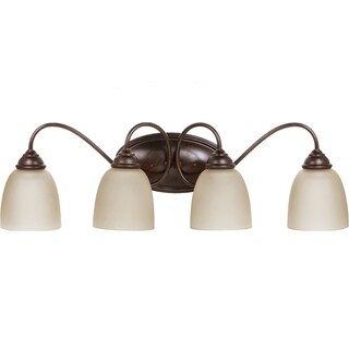 Sea Gull Lighting Lemont 4-light Burnt Sienna Vanity Fixture