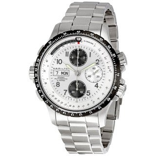 Hamilton Men's H77626153 'Khaki King X Wind' Chronograph Automatic Stainless Steel Watch