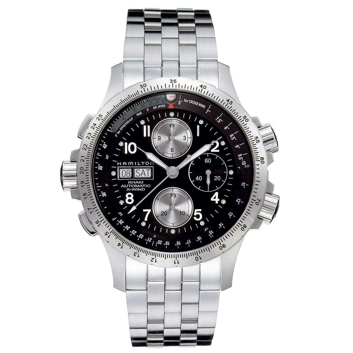 Hamilton Men's 'Khaki X-Wind' Automatic Black Dial Watch ...