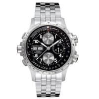 Hamilton Men's 'Khaki X-Wind' Automatic Black Dial Watch - silver