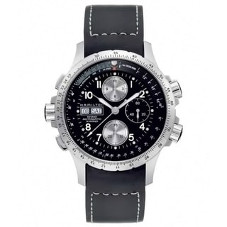 Hamilton Men's 'Khaki X-Wind' Automatic Black Dial Watch