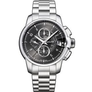 Hamilton Men's 'Railroad Auto Chrono' Black Dial Watch