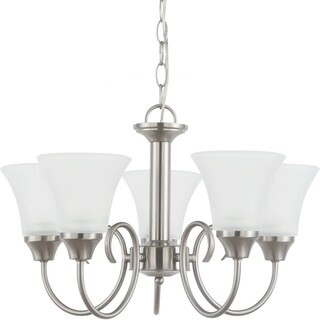 Holman 5-Light Single Tier Brushed Nickel Chandelier