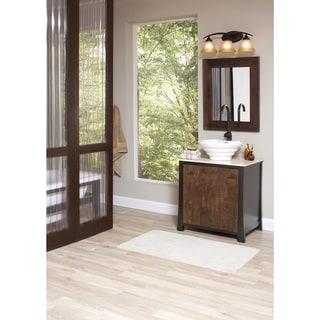 Brockton 3-light Burnt Sienna Wall/Bath Vanity with Amber Scavo Glass