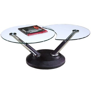 Modesto Metal and Glass Swivel Cocktail Table