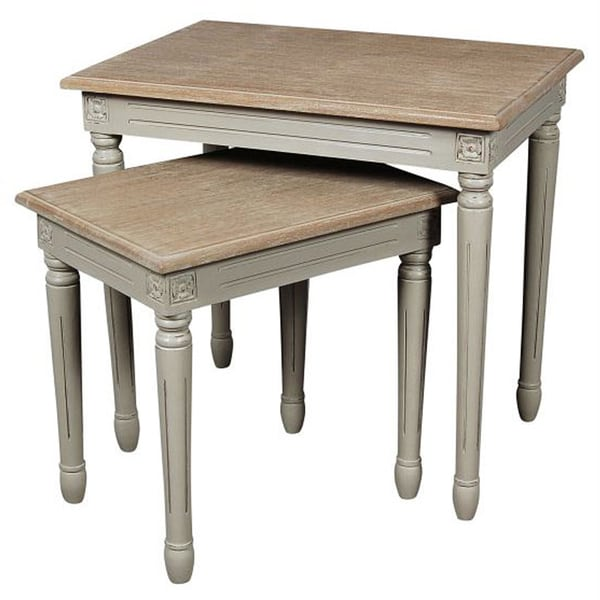 nuLOOM Casual Living Nesting Natural Table