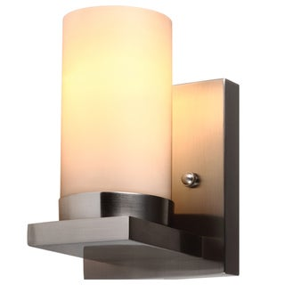 Ellington 1 Light Brushed Nickel Wall Bath Sconce With Satin Etched Glass Free Shipping On