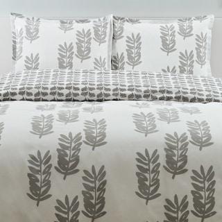 City Scene Paloma Leaf Cotton 3-piece Reversible Comforter Set