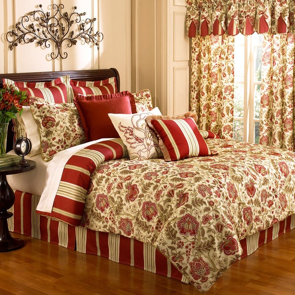 Waverly Imperial Dress Brick 4 Piece Comforter Set Free