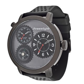 Freestyle Men's 'Passage' Black Compass Watch