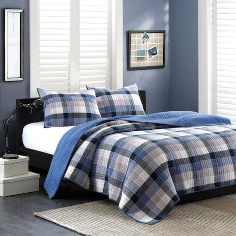 Carbon Loft Sterling Blue Coverlet Set
