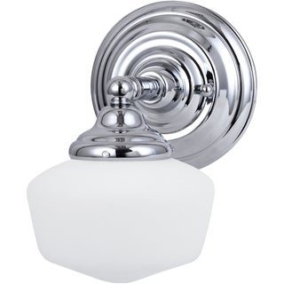 Academy 1-light Chrome/ Satin White Wall Sconce
