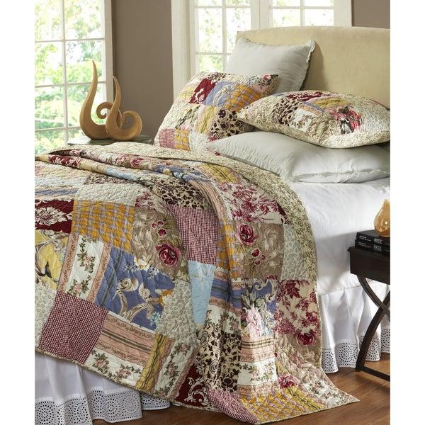 queen set patchwork burgundy jewel off bargains piece kinglinen comforter shop