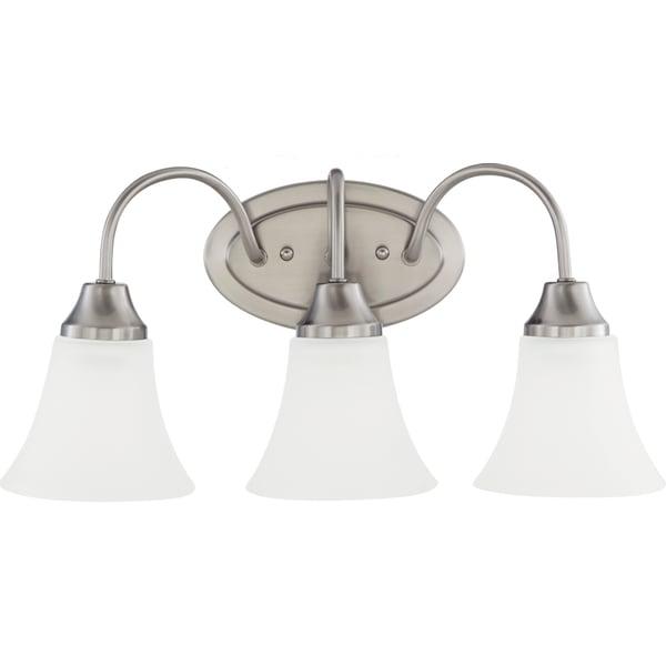 Shop Holman 3-light Brushed Nickel Wall/Bath Vanity With
