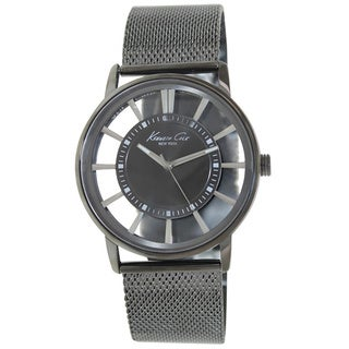 Kenneth Cole New York Men's Transparent Dial with Gunmetal Mesh Strap Watch