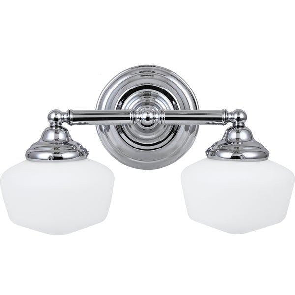 Shop Academy Chrome Vanity 2 Light Fixture Free Shipping Today 8025361