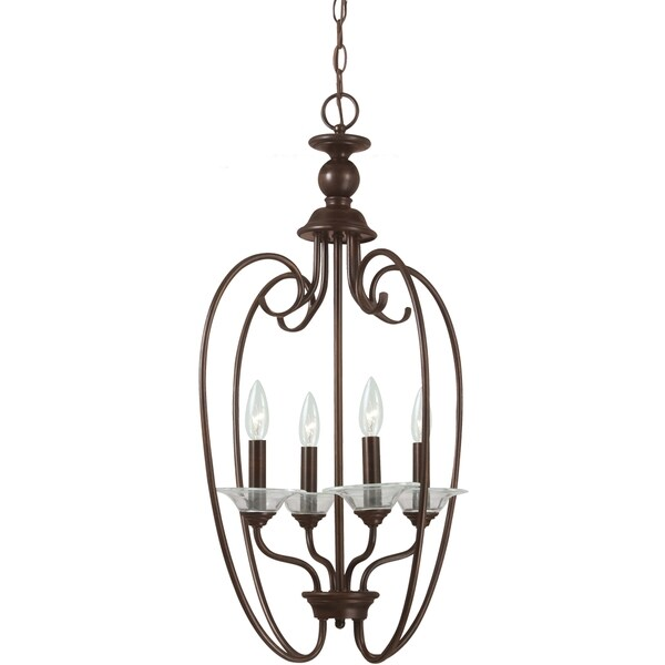 Lemont Burnt Sienna Hall Foyer 4-light Pendant