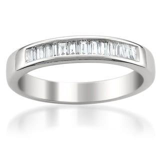 Link to Montebello 14k White Gold 1/2ct TDW Baguette Cut Diamond Wedding Band Similar Items in Wedding Rings