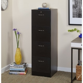 wood file cabinet. Simple Living Wilson Filing 4-drawer Cabinet Wood File