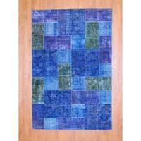 Handmade Herat Oriental Pak Persian Patchwork Wool Rug  - 5'10 x 8'10 (Pakistan)