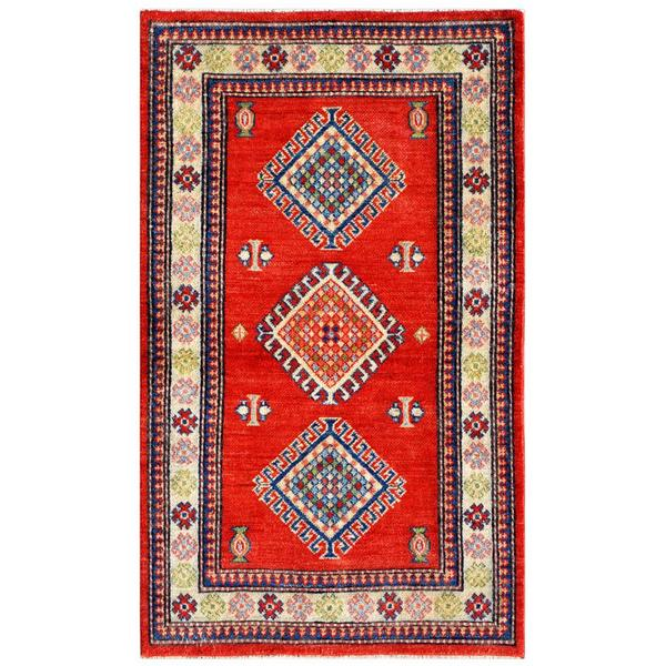 Herat Oriental Afghan Hand-knotted Kazak Wool Rug (2'11 x 4'10)