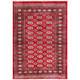 Herat Oriental Pakistani Hand-knotted Bokhara Wool Rug (4'2 x 5'10)