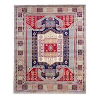 Herat Oriental Indo Hand-knotted Kazak Wool Rug (6' x 9') - 6' x 9'