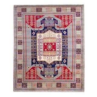Herat Oriental Indo Hand-knotted Kazak Wool Rug - 6' x 9'
