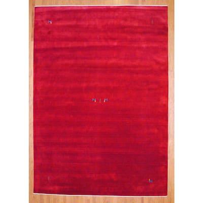 Handmade One-of-a-Kind Gabbeh Wool Rug (India) - 10' x 14'