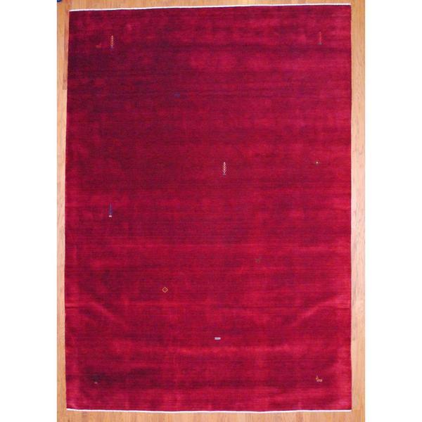 Shop Oriental Persian Gabbeh Shades Of Orange Hand Knotted: Shop Handmade Herat Oriental Indo Dark Red/ Orange Gabbeh