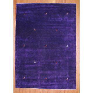 Herat Oriental Indo Hand-knotted Gabbeh Wool Rug (8' x 10') - 8' x 10'