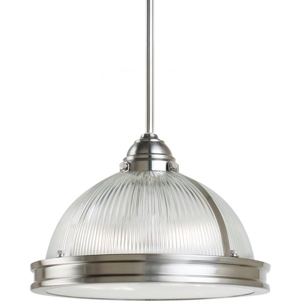 Pratt Street Prismatic 2-light Brushed Nickel Pendant