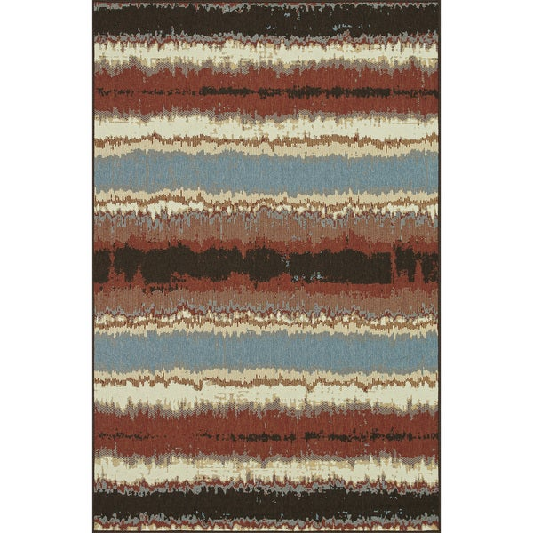 Indoor Outdoor Hudson Flame Rug (3'11 x 5'10)
