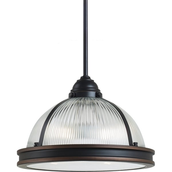 Street Light Diffuser: Shop Pratt Street Prismatic 2-light Autumn Bronze Pendant