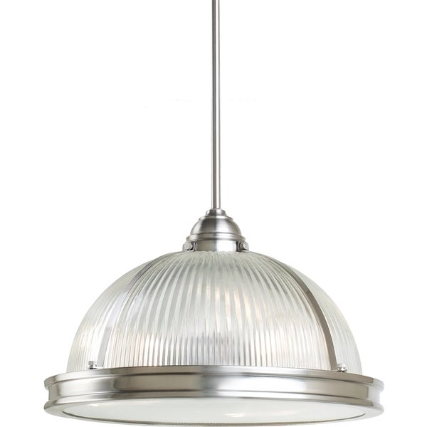 Street Light Diffuser: Shop Pratt Street Prismatic 3-light Brushed Nickel Pendant