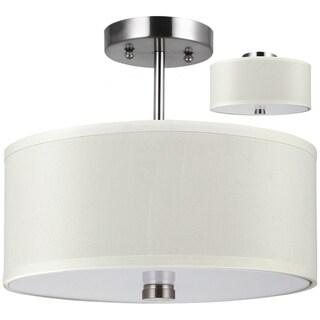 Dayna Brushed Nickel Semi-flush 2-Light Pendant Fixture