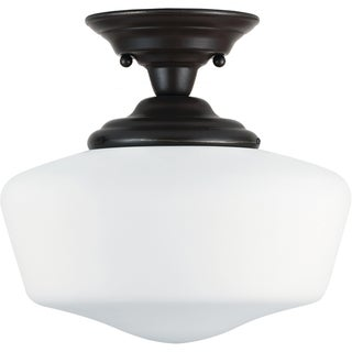 Academy 1-light Heirloom Bronze Semi-Flush Fixture