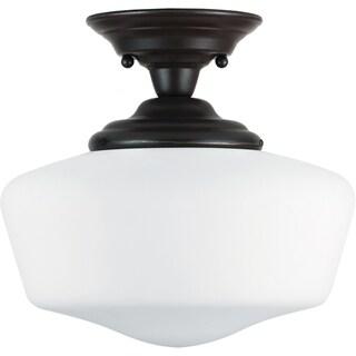 Academy 1-light Heirloom Bronze Semi-Flush Fixture