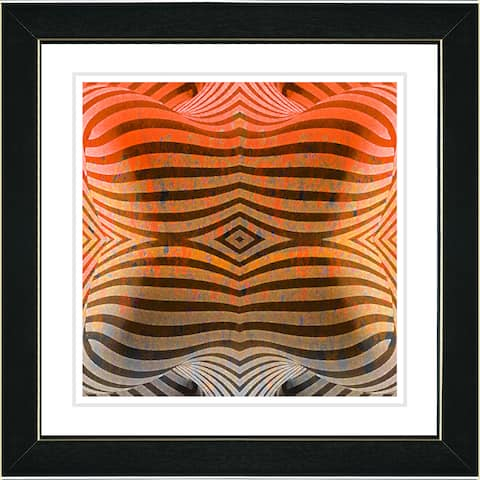 Studio Works Modern 'Rio Bio Bio - Orange' Framed Art Print
