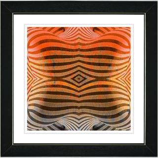 Studio Works Modern 'Rio Bio Bio - Orange' Framed Art Print