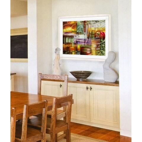 Studio Works Modern 'Veggie Mix' Framed Fine Art Giclee Print