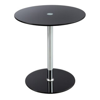 Safco Black Glass Top Accent Table (2 options available)